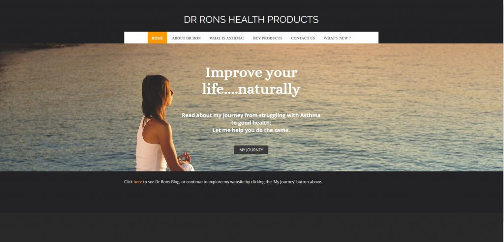 Dr Rons Health Products Screenshot
