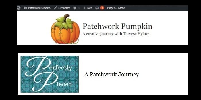 Perfectly pieced and patchwork pumpkin headers